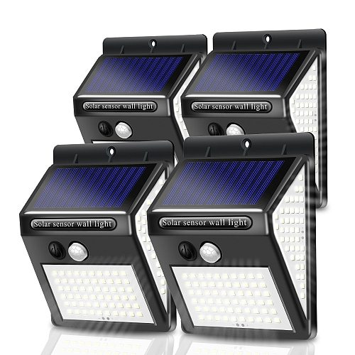 Ultra Bright 140 LED Solar Light Outdoor Security with Motion Sensor 3 Mode IP65 Waterproof for Front Door Yard Garage Wall Lamp