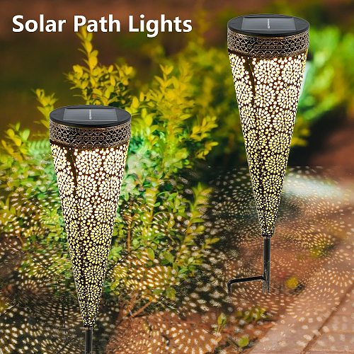 Outdoor Solar Light Waterproof Garden LED Solar Powered Light Landscape Lawn Solar Lamp Patio Path Lighting Torch Decoration