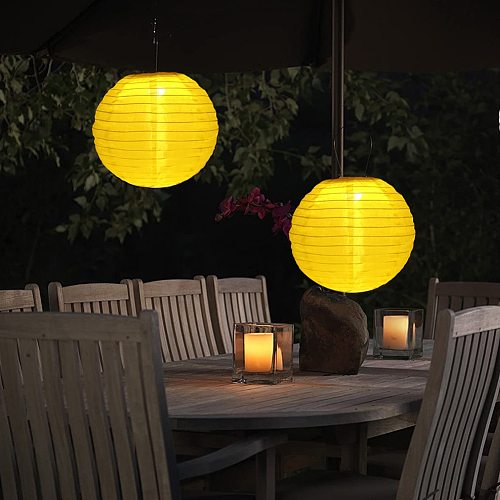 Solar Holiday Hanging Lights 30cm LED Solar Lantern Lamp IP55 Waterproof Outdoor Yard Festival Party Decorative Hanging Light