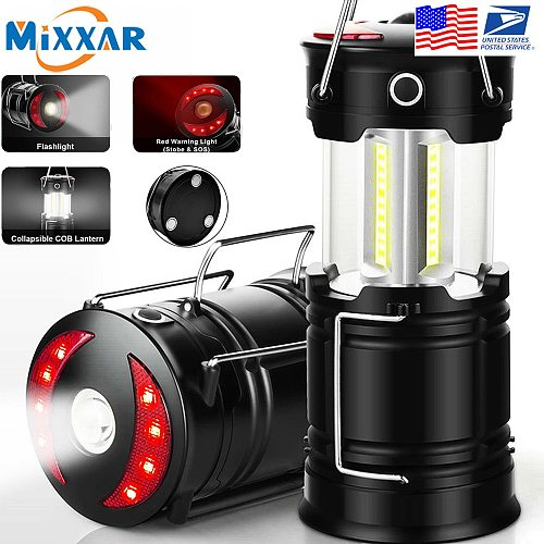 ZK20 Dropshipping Rechargeable Camping Lantern Flashlight 4 Modes Two Way Hook of Hanging Perfect for Camping Hiking
