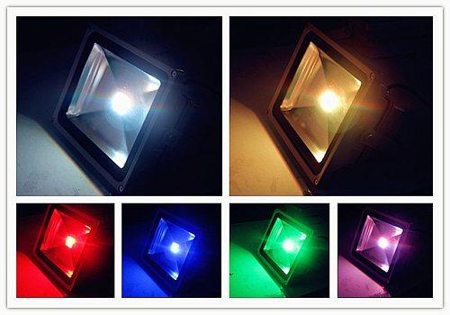 10W 20W 30W 50W RGB LED Flood Light Foco LED Exterior Spotlight IP65 LED Outdoor Light Reflector Spot Floodlight Remote Control