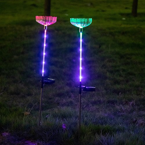 Solar ground plug lamp new product plug subway art lantern projection lamp led lawn landscape lighting solar lamp