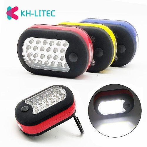 Portable Mini 24+3LED 2 Modes Flashlight Pocket Torch Lantern Work Inspection Light With Magnet Hook For Emergency Car Repairing