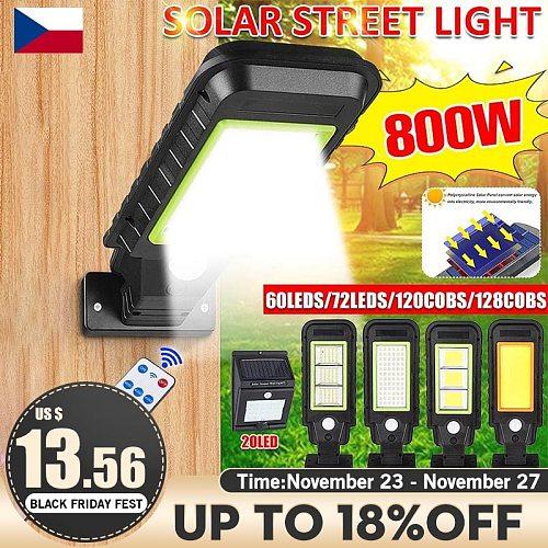 300/350/700/800W COB Solar Lamp Three Modes PIR Motion Sensor Wall Street Light Waterproof Solar Light Security Lamp For Garden
