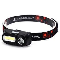 Camping Head Lamp LED Headlamp Mini Tools Supplies Magnet COB Hiking Torch Portable Car Inspect Light Fishing Headlight