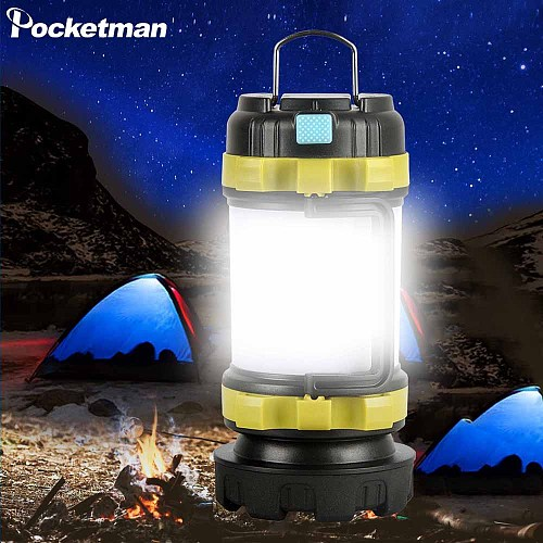 Camp Lamp LED Camping Light USB Rechargeable Flashlight Dimmable Spotlight Work Light Waterproof Searchlight Emergency Torch