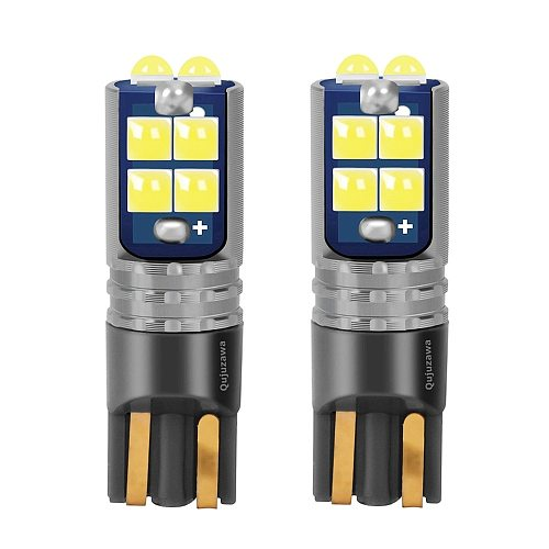 2PCS New T10 W5W 168 2825 WY5W Super Bright LED Car Interior Reading Dome Lamps Auto Wedge Turn Side Parking Bulb Marker Lights