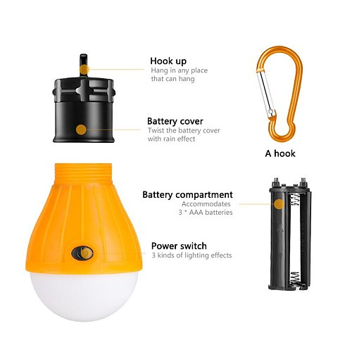 SANYI 4 Types to Choose LED Tent Lamp Hanging Hook Portable Lanterna for Camping Outdoor SOS Emergency Working Light