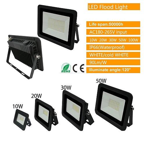 220V LED FloodLight Reflector Spotlight outdoor Exterior Street wall Light Portable Energy Lamp Waterproof Home Yard Outdooring