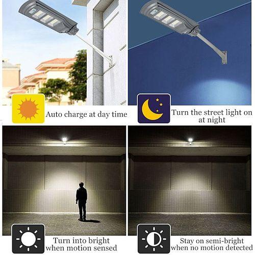 120W/240W/360W LED Solar Light Solar Wall Street Light Waterproof Lamp Radar PIR Motion Sensor Street Light for Garden Outdoor