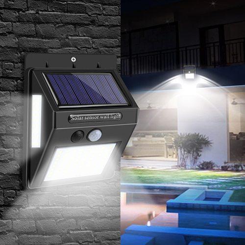 Solar LED Street Light for Home Garden Fence PIR Motion Sensor Detection Wall Lamp 20-100 LEDs Waterproof Solar Lamp Emergency