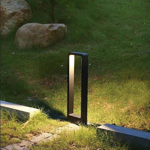 1PCS 15W COB Waterproof LED Garden Lawn Lamp Modern Aluminum Pillar Light Outdoor Courtyard Villa Landscape Lawn Bollards Light