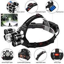 High Lumens not ZOOM LED Headlight Headlamp LED T6 Head Lamp Flashlight Torch Head Light 18650 battery For Camping, Fishing