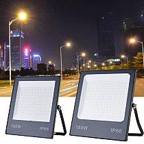 220V LED Flood Light IP66 Waterproof  Spotlight 10W 20W 30W 50W 100W 150W Outdoor Garden Projector Lighting Wall Floodlights