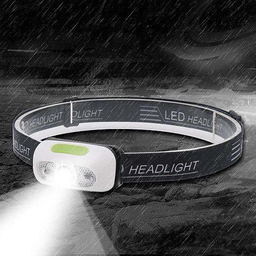 Head Torch Ultralight Induction Running Headlight USB Rechargeable IPX6 Waterproof 5 Modes with Battery Led Headlamp