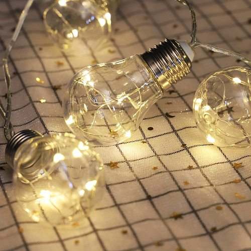 Solar String Light Outdoor Edison Vintage Plastic 10 Bulbs Hanging Waterproof String Lights for Deck Yard Tents Party Decor