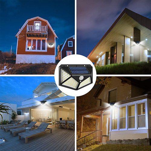Solar Lights Outdoor Motion Sensor Waterproof Security Wall Lighting Outside for Front Door, Backyard Steps Garage Garden