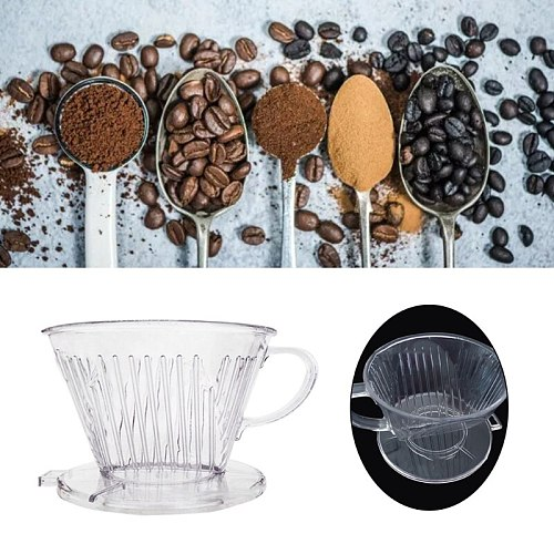 Hand Brewed Reusable Coffee Filter Cup Dripper Cone Shape Coffee Maker Practical T84E
