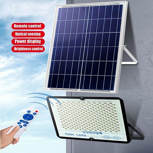 A2 300W LED Solar Light Super Bright Solar Lamp Large Battery Wireless Outdoor Garden Waterproof Large Solar panel light