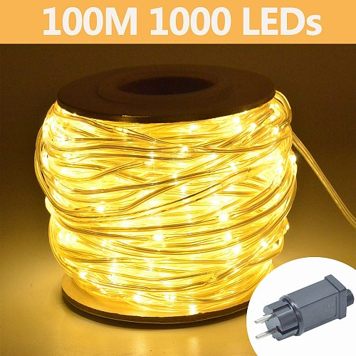 LED String Lights IP65 Waterproof 10m 20m 30m 50m 100m for outdoor indoor Wedding Mariage Curtain Christmas Garland Decoration