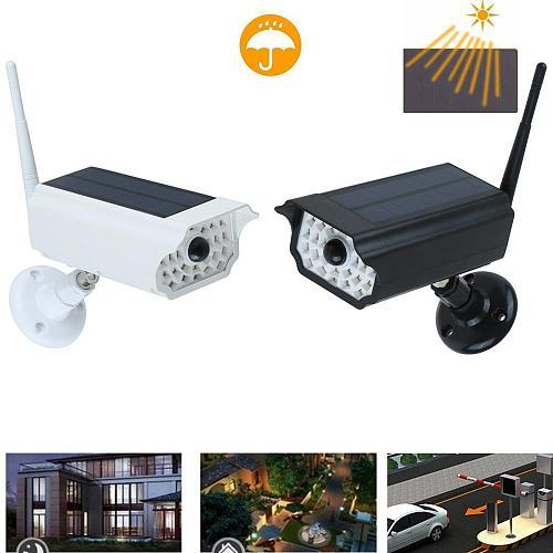 LED Solar Power Street Light PIR Motion Sensor Spotlight Outdoor Lamp Garden Yard Simulation Monitoring Security Lamp 30 SMD2835