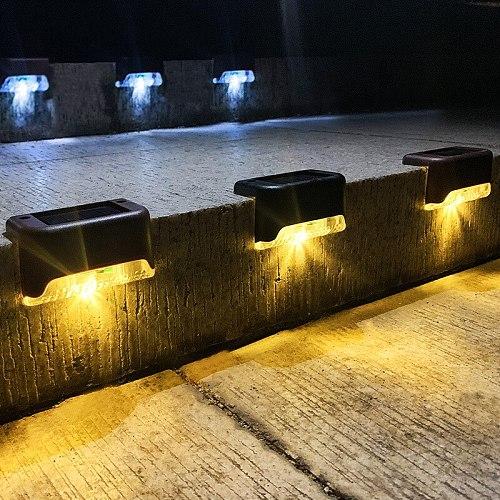 8/16/20pcs LED Solar Lamp Path Stair Outdoor Waterproof Wall Light Garden Landscape Step Stair Deck Lights Balcony Fence Lights