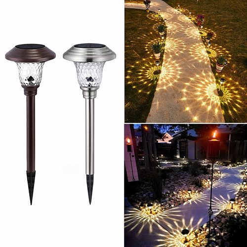 Solar Led Light Outdoor Solar Light Landscape Led Lights for Pathway Patio Yard Lawn Waterproof Garden Decoration Outdoor Lamp