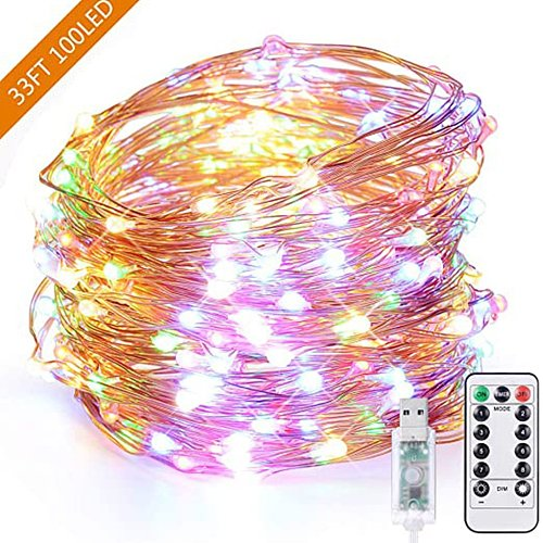 Usb LED String light Copper Wire Fairy Garland Home Christmas Wedding Party Decoration Remote Control 5m 10m 20m starlight
