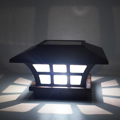 Safe Waterproof Solar Column Headlight Coffee Garden Light Outdoor Waterproof Wall Light For Household Public Garden Courtyard