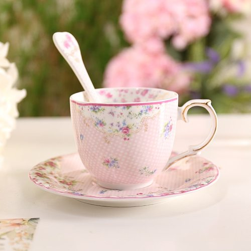 BN01035 European style Floral coffee cup set 200ml good bone china coffee cup and saucer herbal tea cup set,indie hipster design