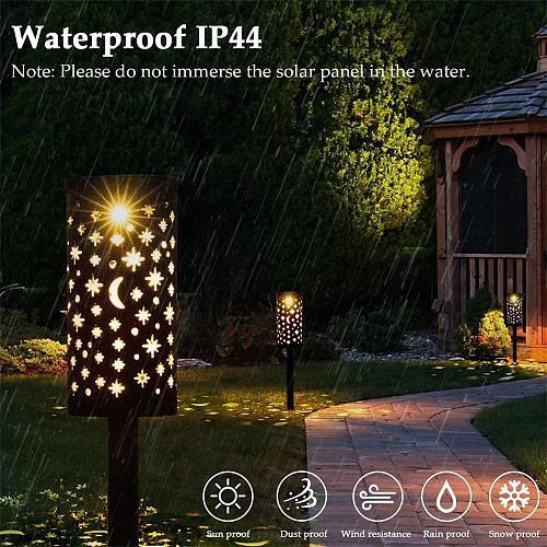 Retro Solar LED Lantern Outdoor Garden Hanging Lamp Lawn Landscape Light Path Stake Lamps Lawn Light Solar Light Home Decoration