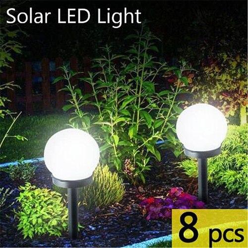 6PCS Solar Led Light Outdoor Garden Decor Lights Waterproof Fence Patio Night Lights Landscape Solar Lamp 6PCS Bulb Night Lamps