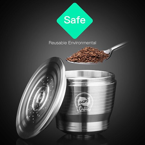 Stainless Steel Coffee Capsules Espresso Capsules Reusable Nespresso Stainless Steel Coffee Filter Powder Press