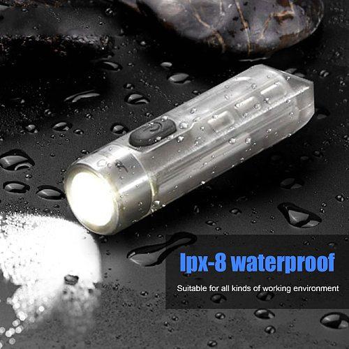 Jetbeam MINI ONE Flashlight Five Colors Multi-purpose EDC Light Type-C USB Portable Ultraviolet Key-chain Torch MINI flashlight