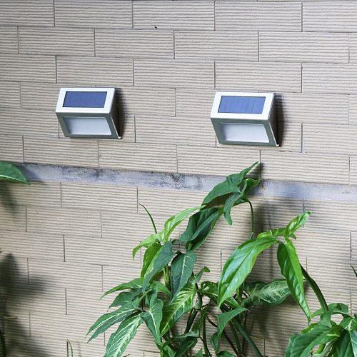 6 LED Solar Light Outdoors Waterproof Solar Lamp Stainless Steel Solar Powered Sunlight for Garden Decoration Path Stair