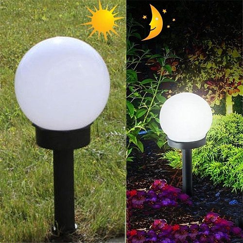 2pcs LED Solar Power Lamp Outdoor Garden Ball Shape Path Yard Light Lamp Lawn Road Patio Courtyard Lawn Road Ground Light Acces