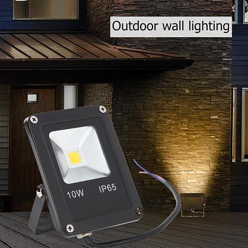Outdoor LED Spotlight Floodlight Thickened Base Low Power Consumption Waterproof COB Garden Stage Professional Lamp