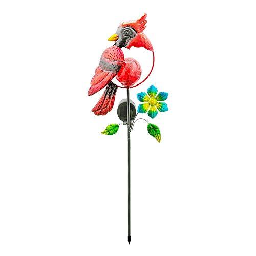 LED Solar Light  Red Bird Peacock Lawn Stakes Lamps Yard Art garden solar wrought iron bird  decorative light
