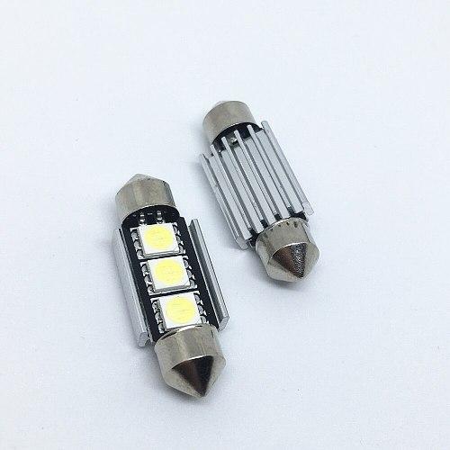 10pcs Dome ligh Festoon 36mm 39mm 41mm SMD 5050 LED White  Car Light CANBUS Error Free C5W LED Lamp auto Bulb interior light 12V
