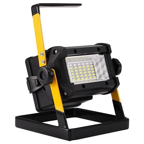50W 36LED Light 3 Modes Floodlights Rechargeable Lamp Portable Flood Spot Work Light Waterproof Outdoor Camping Lanterne Fener
