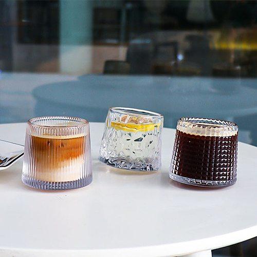 Restaurant glass retro ice American coffee cup latte cup tumbler round cup dessert Mug wine glasses wine glass glass mug