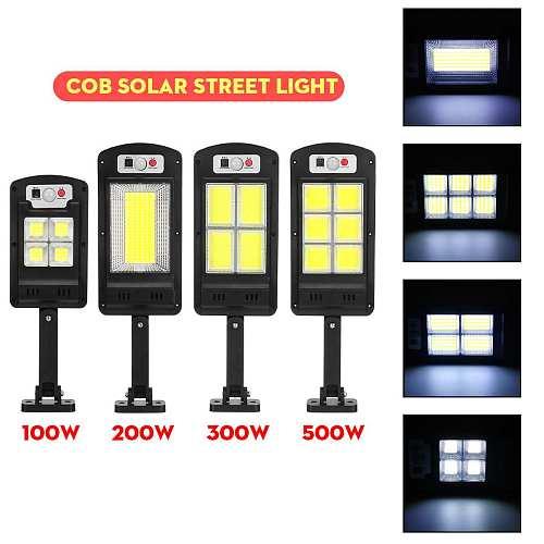 LED Solar Street Lights 128 COB Outdoor Lighting Security Lamp Motion PIR Sensor Remote Control Waterproof Wall Lamp