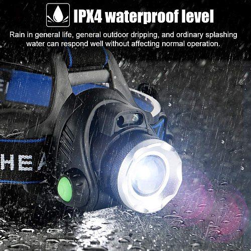12000lumens Led Headlamp L2/T6 Waterproof Headlight Head Torch Flashlight Head Lamp Light by 18650 Battery for Fishing Hunting