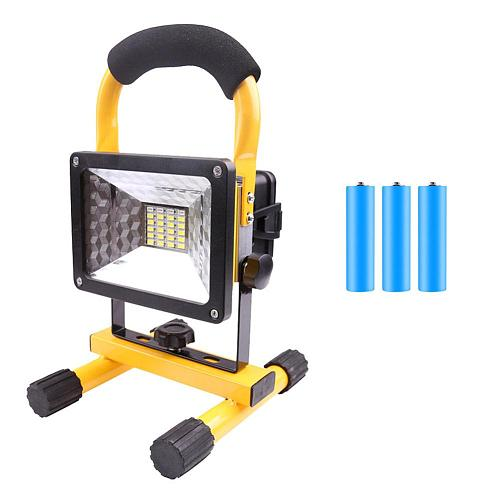 LED Work Light 30W 2400LM Waterproof Portable 3 Mode Rechargeable Flood Lamp Battery USB Cable Kit for Outdoor Travel Car Repair
