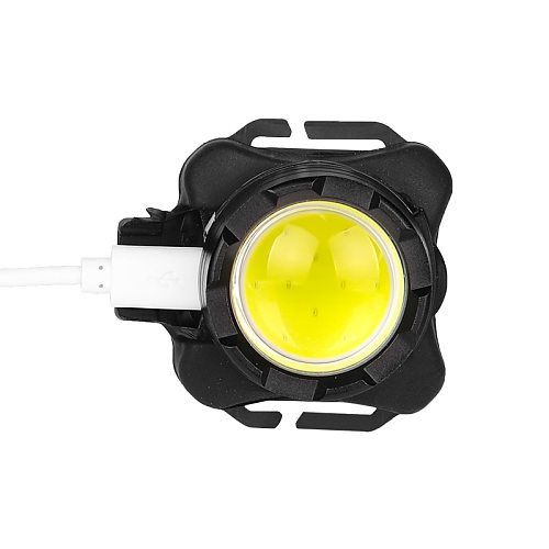 50 Powerful LED Headlamp COB Head Light USB Rechargeable Headlight with Built-in Battery Waterproof Head Lamp White Red Lighting