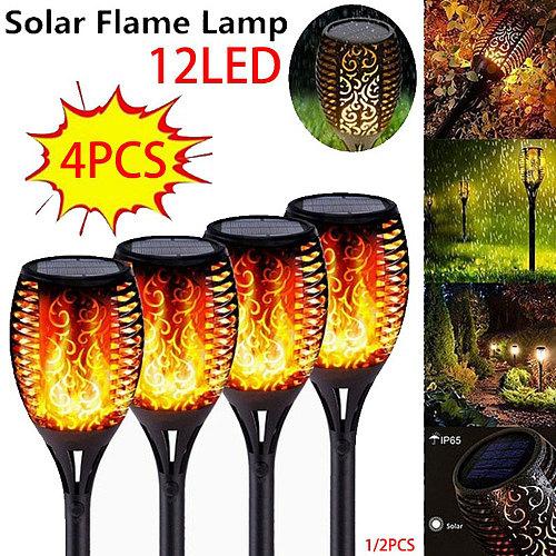 12LED 33LED Solar Flame Torch Light IP65 Waterproof Outdoor Flickering Lights Garden Lamp Decor Landscape Lawn Lamp Flashlight