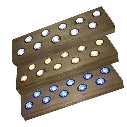 10pcs LED Deck Light 12V Underground Lamp RGB Remote Control LED Spotlight For Garden Floor Lights Landscape Lighting