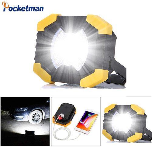Super Portable Work Floodlight Tent Camping Light Lantern 50W Solar USB Rechargeable COB LED Flashlight Searchlight AA Spotlight