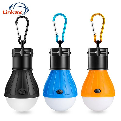 Portable Handy LED Bulb Light 3 Mode Hook Tent Lamp Outdoor Soft Emergency Tent Light Energy Saving For Camping Hunting Lighting