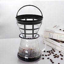 Replacement Coffee Filter Reusable Refillable Basket Cup Style Brewer Tool Home Handmade Coffee Tea Filter